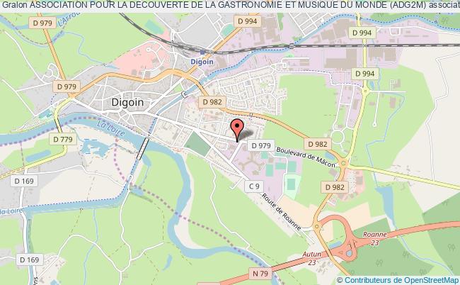 plan association Association Pour La Decouverte De La Gastronomie Et Musique Du Monde (adg2m) Digoin