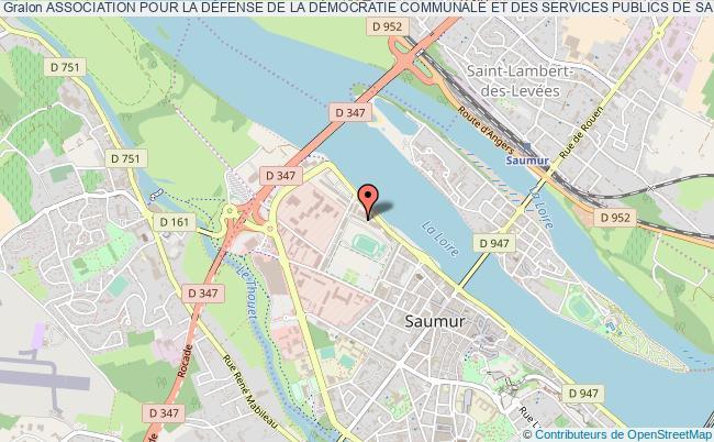 plan association Association Pour La DÉfense De La DÉmocratie Communale Et Des Services Publics De Saumur Et Du Saumurois - Parler Vrai - Agir Juste