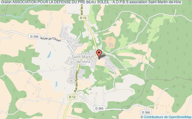 plan association Association Pour La Defense Du Pre Beau Soleil - A.d.p.b.s Saint-Martin-de-Hinx