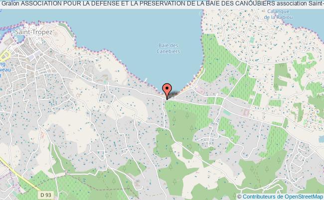 plan association Association Pour La Defense Et La Preservation De La Baie Des Canoubiers