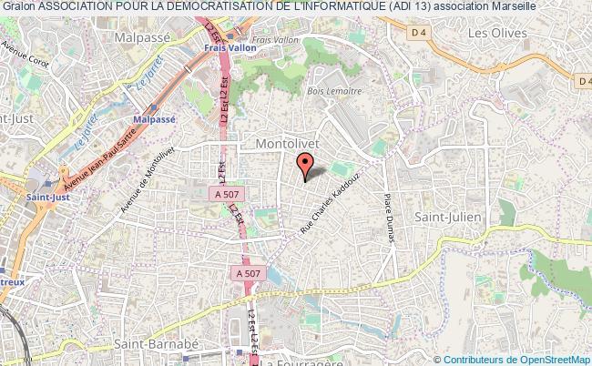 plan association Association Pour La Democratisation De L'informatique (adi 13) Marseille