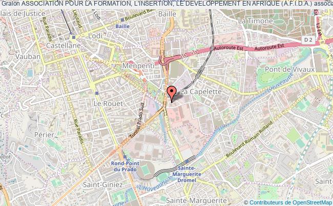 plan association Association Pour La Formation, L'insertion, Le Developpement En Afrique (a.f.i.d.a.) Marseille