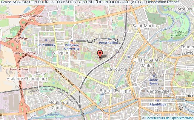 plan association Association Pour La Formation Continue Odontologique (a.f.c.o.)