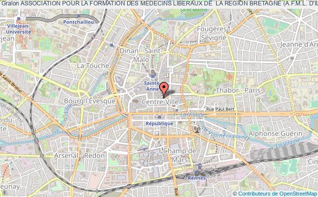 plan association Association Pour La Formation Des Medecins Liberaux De  La Region Bretagne (a.f.m.l. D'ille Et Vilaine)