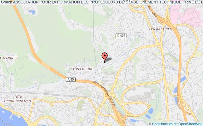 plan association Association Pour La Formation Des Professeurs De L'enseignement Technique Prive De La Region Grand Sud  (afpetp Grand Sud) Marseille 16