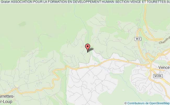 plan association Association Pour La Formation En Developpement Humain Section Vence Et Tourettes Sur Loup Asfodevh 06