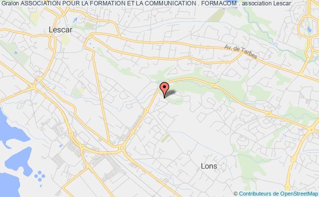 plan association Association Pour La Formation Et La Communication . Formacom . Pau