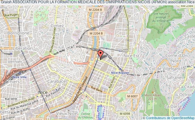 plan association Association Pour La Formation Medicale Des Omnipraticiens Nicois (afmon) Nice