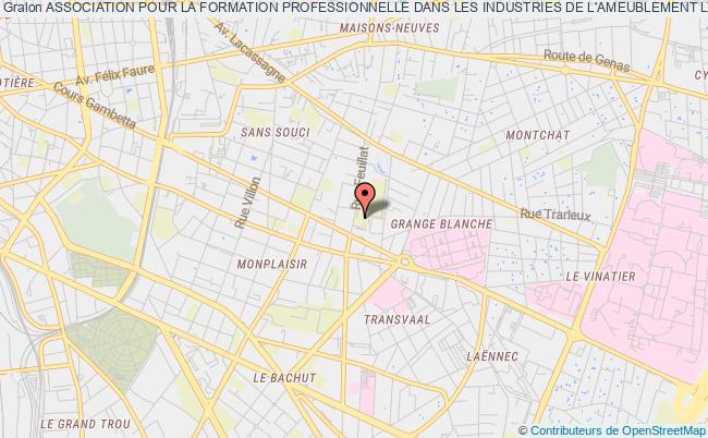 plan association Association Pour La Formation Professionnelle Dans Les Industries De L'ameublement Lyon (afpia Lyon)