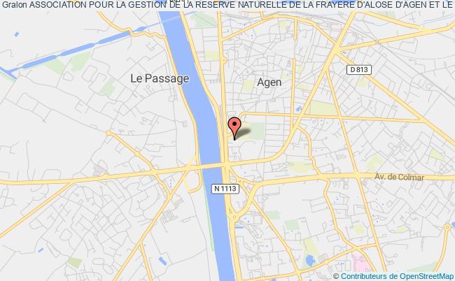 plan association Association Pour La Gestion De La Reserve Naturelle De La Frayere D'alose D'agen Et Le Passage