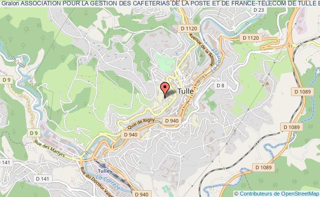 plan association Association Pour La Gestion Des Cafeterias De La Poste Et De France-telecom De Tulle Et De Brive