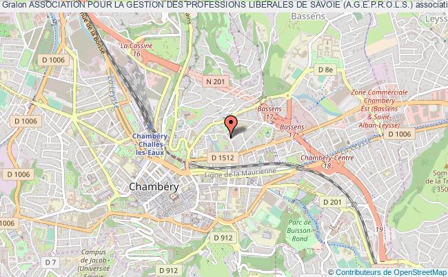 plan association Association Pour La Gestion Des Professions Liberales De Savoie (a.g.e.p.r.o.l.s.)