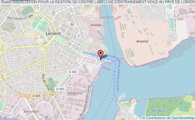 plan association Association Pour La Gestion Du Centre Labellise D'entrainement Voile Au Pays De Lorient Lorient