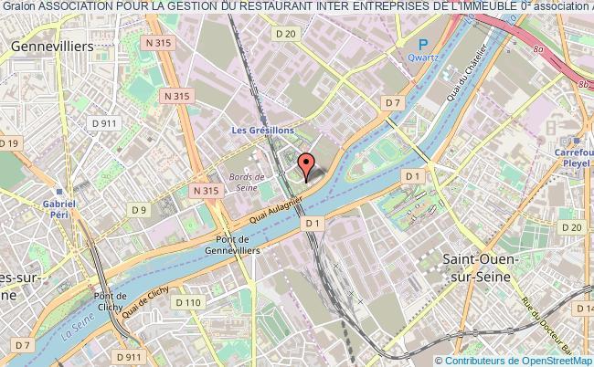 plan association Association Pour La Gestion Du Restaurant Inter Entreprises De L'immeuble 0² Asnières-sur-Seine