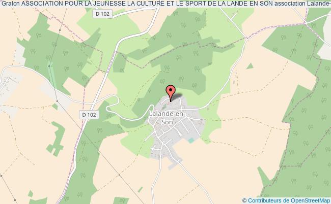plan association Association Pour La Jeunesse La Culture Et Le Sport De La Lande En Son