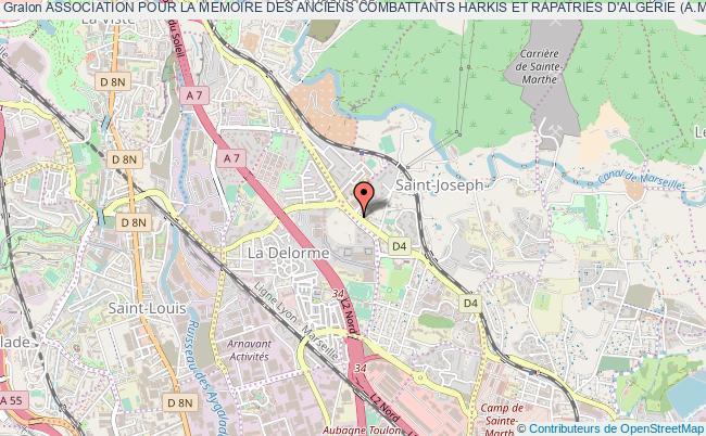 plan association Association Pour La Memoire Des Anciens Combattants Harkis Et Rapatries D'algerie (a.m.a.c.h.r.a) Marseille