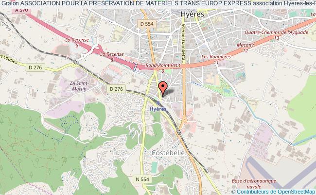 plan association Association Pour La Preservation De Materiels Trans Europ Express