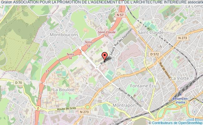 plan association Association Pour La Promotion De L'agencement Et De L'architecture Interieure