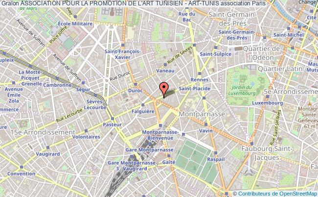 plan association Association Pour La Promotion De L'art Tunisien - Art-tunis Paris
