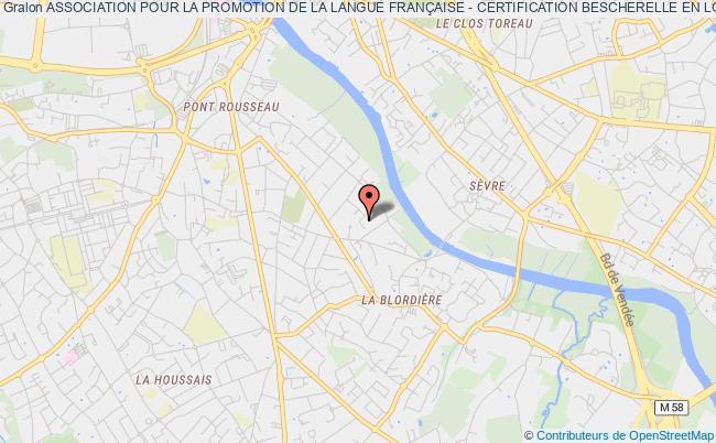 plan association Association Pour La Promotion De La Langue FranÇaise - Certification Bescherelle En Loire-atlantique