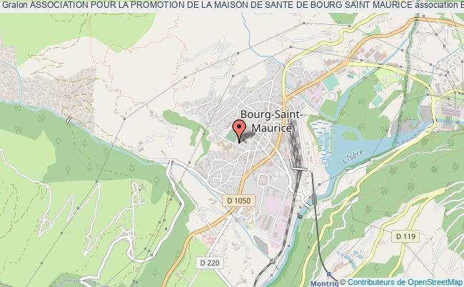 plan association Association Pour La Promotion De La Maison De Sante De Bourg Saint Maurice