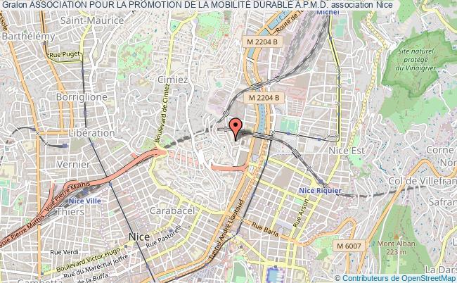 plan association Association Pour La Promotion De La MobilitÉ Durable A.p.m.d. Nice