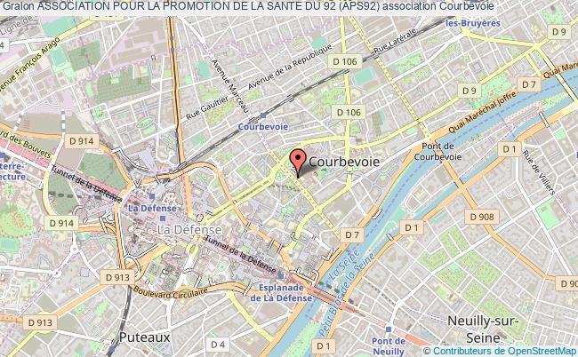plan association Association Pour La Promotion De La Sante Du 92 (aps92) Courbevoie