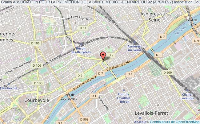 plan association Association Pour La Promotion De La Sante Medico-dentaire Du 92 (apsmd92) Courbevoie