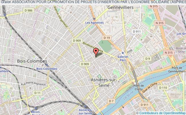 plan association Association Pour La Promotion De Projets D'insertion Par L'economie Solidaire (aspires) Asnières-sur-Seine