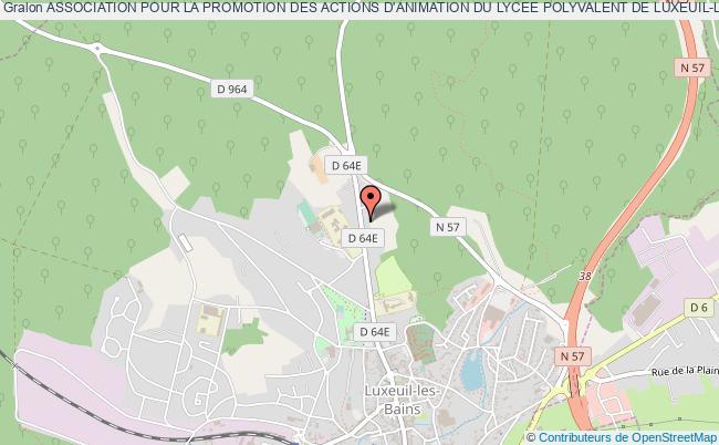 plan association Association Pour La Promotion Des Actions D'animation Du Lycee Polyvalent De Luxeuil-les-bains (apaalpl)