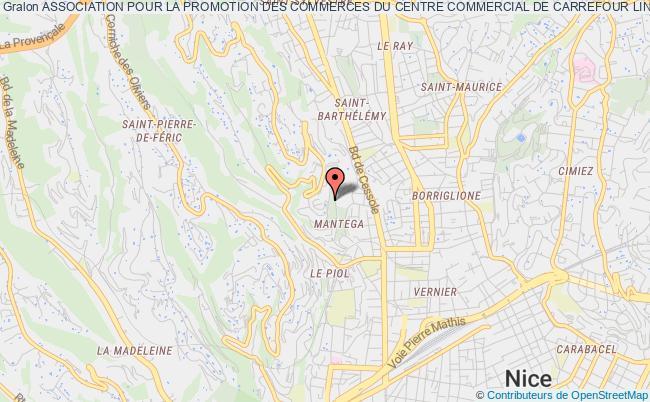 plan association Association Pour La Promotion Des Commerces Du Centre Commercial De Carrefour Lingostiere Nice