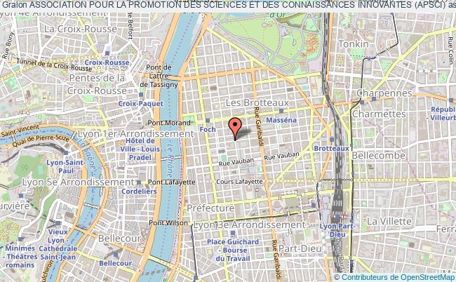 plan association Association Pour La Promotion Des Sciences Et Des Connaissances Innovantes (apsci)