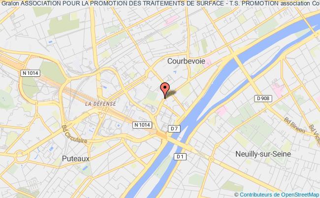 plan association Association Pour La Promotion Des Traitements De Surface - T.s. Promotion Courbevoie