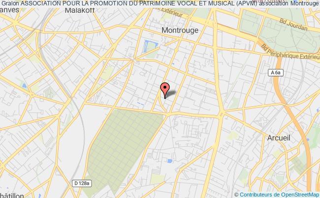plan association Association Pour La Promotion Du Patrimoine Vocal Et Musical (apvm) Montrouge