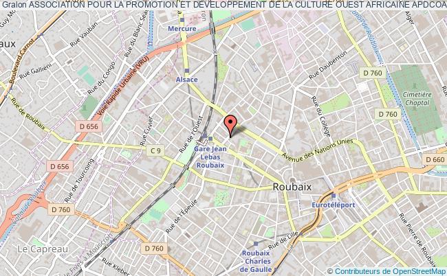 plan association Association Pour La Promotion Et Developpement De La Culture Ouest Africaine Apdcoa Roubaix
