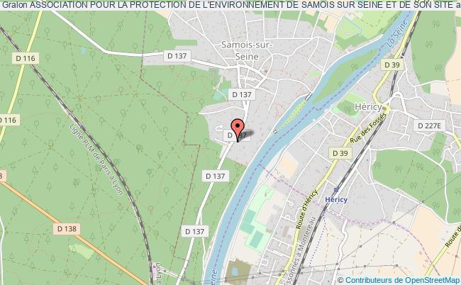 plan association Association Pour La Protection De L'environnement De Samois Sur Seine Et De Son Site Samois-sur-Seine