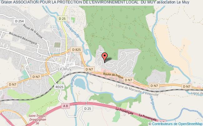 plan association Association Pour La Protection De L'environnement Local  Du Muy Le Muy