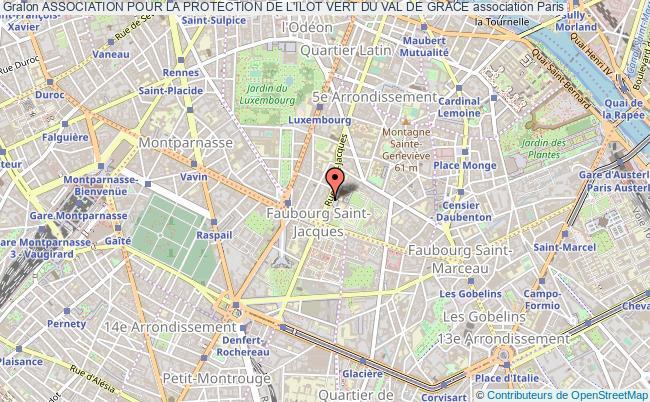 plan association Association Pour La Protection De L'ilot Vert Du Val De Grace