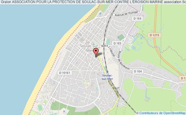 plan association Association Pour La Protection De Soulac-sur-mer Contre L'Érosion Marine Soulac-sur-Mer