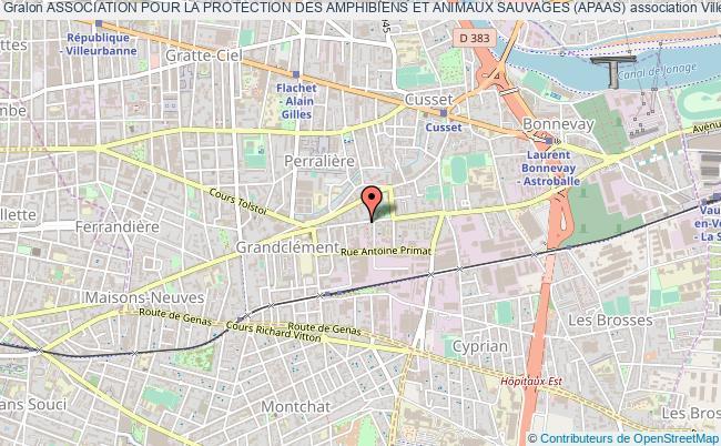 plan association Association Pour La Protection Des Amphibiens Et Animaux Sauvages (apaas)