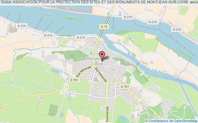 plan association Association Pour La Protection Des Sites Et Des Monuments De Montjean-sur-loire Mauges-sur-Loire