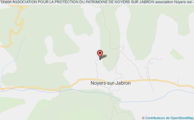plan association Association Pour La Protection Du Patrimoine De Noyers Sur Jabron