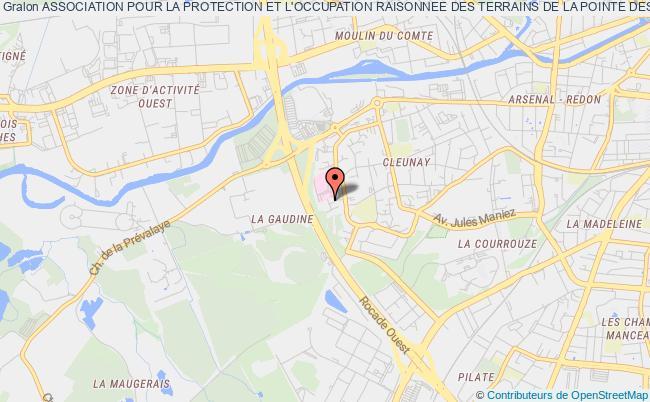 plan association Association Pour La Protection Et L'occupation Raisonnee Des Terrains De La Pointe Des Chats (ile De Groix)