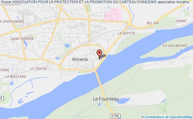 plan association Association Pour La Protection Et La Promotion Du ChÂteau D'ancenis