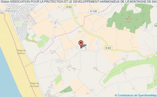 plan association Association Pour La Protection Et Le Developpement Harmonieux De La Montagne De Saint Gildas Et De La Montagne Du Menez Kelec'h