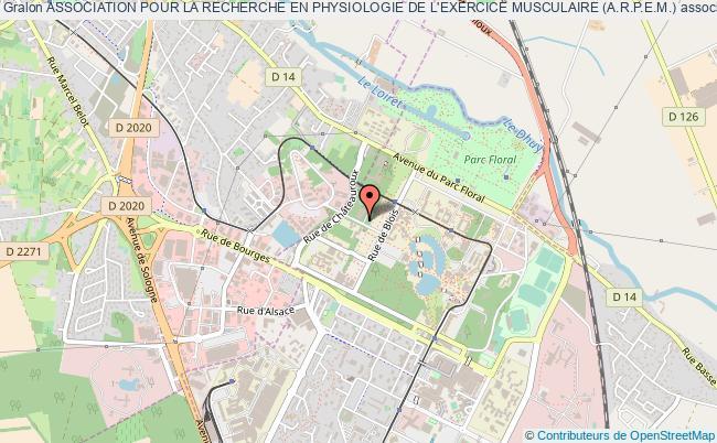 plan association Association Pour La Recherche En Physiologie De L'exercice Musculaire (a.r.p.e.m.)