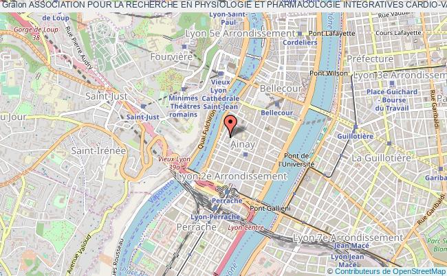 plan association Association Pour La Recherche En Physiologie Et Pharmacologie Integratives Cardio-vasculaires (areppic)