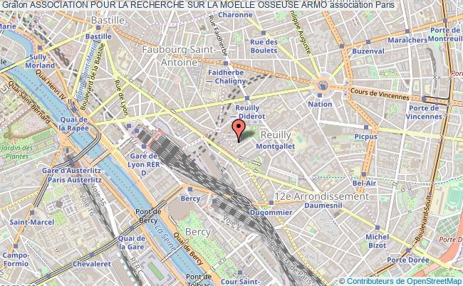 plan association Association Pour La Recherche Sur La Moelle Osseuse Armo Paris