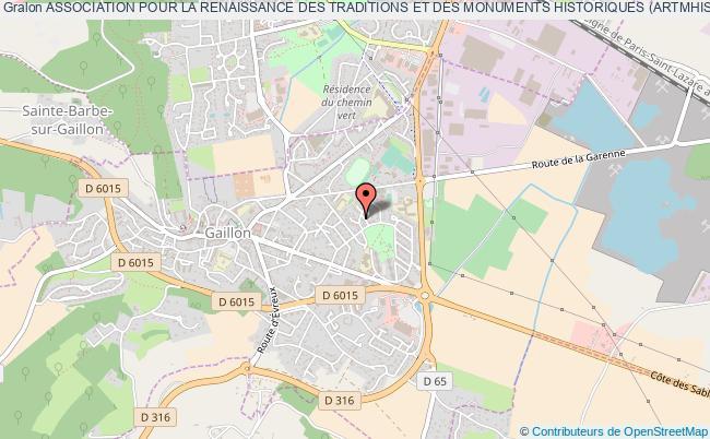 plan association Association Pour La Renaissance Des Traditions Et Des Monuments Historiques (artmhis) Gaillon