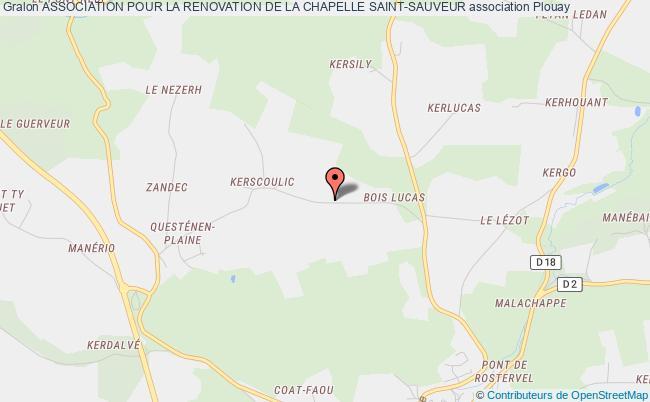 plan association Association Pour La Renovation De La Chapelle Saint-sauveur Plouay